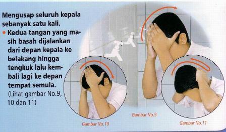 Begini Cara Mengusap Sebagian Kepala yang Benar Saat Berwudlu
