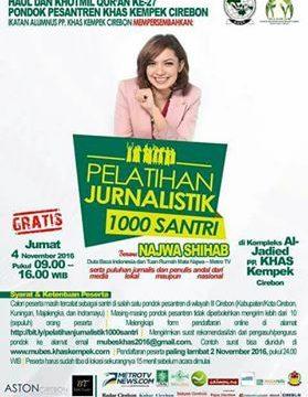 Najwa Sihab akan Sambangi Pesantren KHAS Kempek dalam Pelatihan Jurnalistik 1.000 Santri