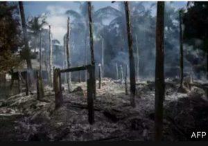 Tentara Myanmar Bombardir Desa Muslim Rohingya