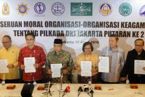 Lima Butir Seruan Tokoh Lintas Agama Untuk Pilkada Jakarta