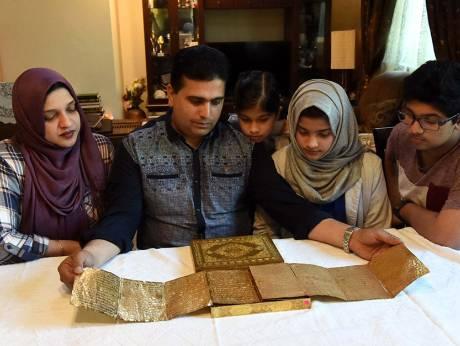 Al Quran Berlapis Emas Berusia lebih dari 500 Tahun