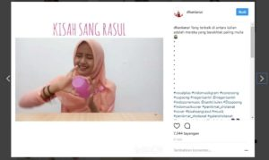 Baca Shalawat dengan Cara Unik, Video Perempuan Ini Viral