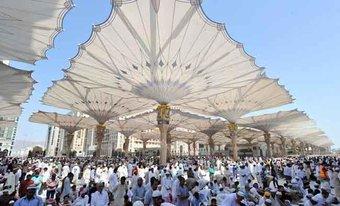 Payung  Terbesar Dunia Akan Dipasang Di Mekkah