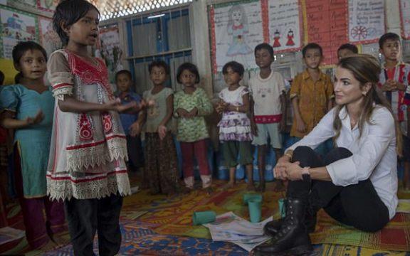 Alangkah Terpukulnya Ratu Rania Al Abdullah Melihat Pengungsi Rohingya…