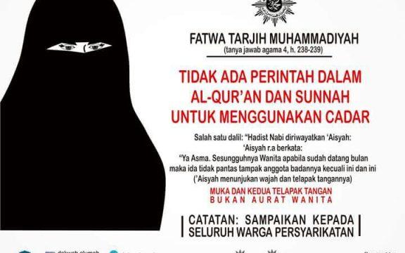 Hukum Cadar Menurut Muhammadiyah