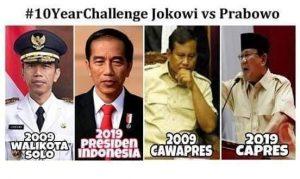 #10YearChallenge Prabowo-Jokowi, Mau Transformasi atau Belok Orba Lagi?