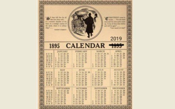 Mengapa Kalender 1895 Sama Persis dengan 2019?