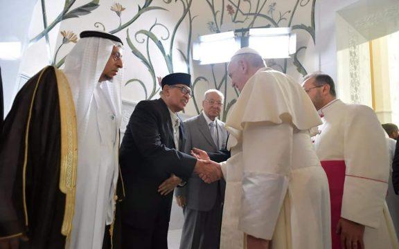 Quraish Shihab Hadiri Deklarasi Abu Dhabi bersama Syekh Al-Azhar dan Paus Fransiskus