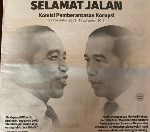 Gus Dur Merancang KPK, Jokowi Mematikannya?