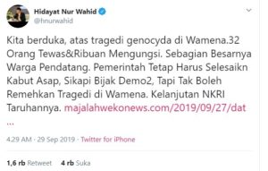 Cuitan HNW: Ketika Pejabat Negara Tak Pandai Pilih Diksi, Malah Provokasi