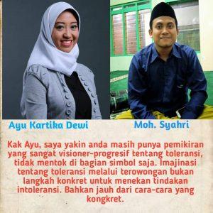 Surat untuk Kak Ayu Kartika Dewi, Stafsus Milenial Jokowi-KMA Bidang Toleransi