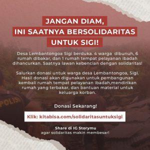 Yuk Donasi Solidaritas untuk Korban Tragedi Sigi Bersama #GusdurianPeduli via Kitabisa