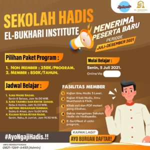 Yuk Belajar Sunnah Nabi di El-Bukhari Institute, Berikut Informasinya
